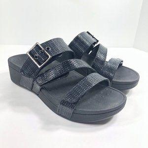 Vionic Rio Woven Sandals Platform Adjustable NWOB